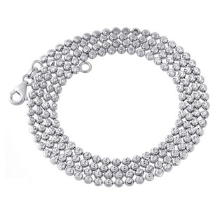 10k White Gold 2.5mm Moon Cut Italian Beaded Ball Chain Necklace - Inches
