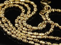 Jewelry For Less 10k Yellow Gold Diamond Cut Bead Rice Chain 2mm Italian Necklace Inches