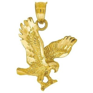 Jewelry For Less 10k Yellow Gold Eagle Pendant 0.80 Animal Charm