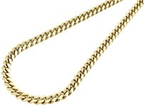 10k Yellow Gold Solid 6MM Miami Cuban Link Necklace Chain 40 Inch Length