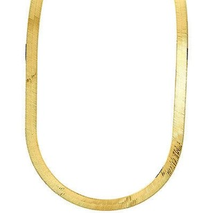 Jewelry For Less 10k Yellow Gold Solid Necklace Silky Herringbone 6.75mm Chain Inches