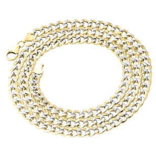 Other 110th 10k Yellow Gold Diamond Cut Curb Cuban Link Chain Necklace 6mm 18-30 Inch