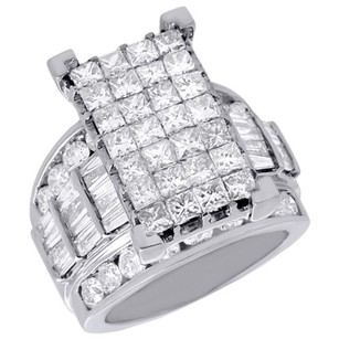 Jewelry For Less 14k White Gold Genuine Princess Diamond Cinderella Wedding Engagement Ring Ct.