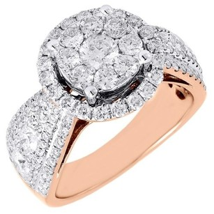 Diamond Engagement Ring Ladies 14k Rose Gold Wedding Round Solitaire 1.72 Tcw.