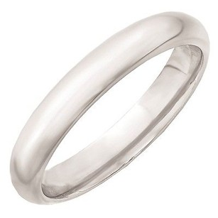 Jewelry For Less 4mm 10k White Gold Comfort Fit Or Half Round Wedding Ring Band 5-13
