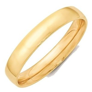 Jewelry For Less 4mm 10k Yellow Gold Comfort Fit Or Half Round Wedding Ring Band 5-13