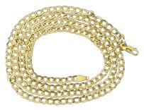10k,Mens,3.50mm,Yellow,Gold,Plain,Miami,Cuban,Chain,Necklace,24,Inch