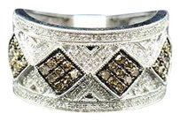 Brown,Diamond,Cocktail,Fashion,Right,Hand,Ring,10k,White,Gold,0.65,Ct