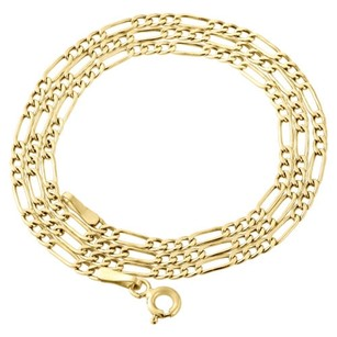 Other Genuine 10k Yellow Gold Figaro Chain 2.50mm Necklace Mens Or Ladies 16-24 Inches