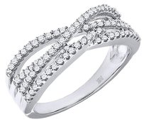 Diamond,Infinity,Style,Wedding,Band,10k,White,Gold,Round,Cut,Ladies,Ring,0.32,Ct