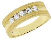 Jewelry Unlimited 10k,Yellow,Gold,Mens,Round,Channel,Diamond,7mm,Satin,Wedding,Band,Ring,0.53,Ct