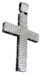 Jewelry Unlimited Genuine,Diamond,Fanook,Illusion,Cross,Pendant,Charm,In,White,Gold,Finish,1.0ct