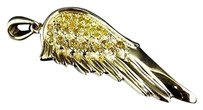 Jewelry Unlimited 10k,Yellow,Gold,Genuine,Canary,Yellow,Diamond,Angel,Wing,Pendant,0.20ct,1.25