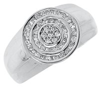Jewelry Unlimited 14k,White,Gold,Mens,Round,Top,Diamond,Fashion,Pinky,Ring,0.75,Ct