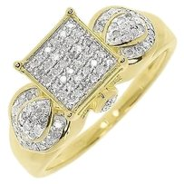 Jewelry Unlimited Yellow,Gold,Finish,Ladies,Pave,Diamond,Designer,Engagement,Wedding,Ring,0.50,Ct