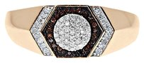 Jewelry Unlimited ,10k,Rose,Gold,Mens,Red,White,Diamond,9,Mm,Fashion,Pinky,Band,Ring,0.20,Ct