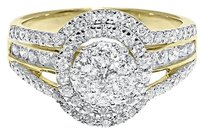 Jewelry Unlimited 10k,Yellow,Xl,Gold,Ladies,Solitaire,Cluster,Diamond,Engagement,Wedding,Ring,1,Ct