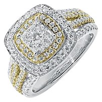 Jewelry Unlimited 14k,Two,Tone,Gold,Ladies,Round,Diamond,Engagement,Fashion,Cocktail,Ring,1.75,Ct