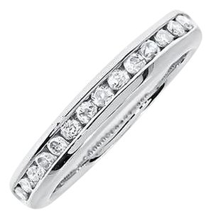 Jewelry Unlimited 14k,White,Gold,Ladies,Diamond,3mm,Channel,Set,Wedding,Anniversary,Band,Ring,13c