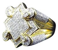 Jewelry Unlimited 10k,Yellow,Gold,The,Claw,Style,Real,Diamond,Fashion,Pinky,Ring,1.25,Ct,21.8,Mm
