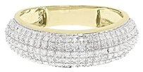 Jewelry Unlimited 10k,Yellow,Gold,Mens,7mm,Pave,Diamond,Domed,Fashion,Wedding,Band,Ring,0.60,Ct