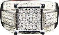 Jewelry Unlimited Ladies,White,Gold,Finish,Pave,Diamond,Engagement,Fashion,Band,Ring,0.33,Ct