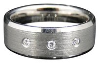 Jewelry Unlimited Mens,Shiny,Titanium,Faceted,Wedding,Engagement,Band,Ring,8,Mm