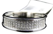 Jewelry Unlimited Mens,10k,White,Gold,Diamond,Pave,6,Mm,Wedding,Engagement,Band,Ring,.25,Ct