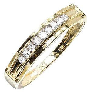 Jewelry Unlimited 10k,Yellow,Gold,Mens,Round,Diamond,Milgrain,5mm,Channel,Wedding,Band,Ring,0.25ct