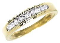 Jewelry Unlimited 10k,Yellow,Gold,Mens,5mm,Round,Diamond,Channel,Set,Wedding,Band,Ring,0.25ct