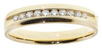 Jewelry Unlimited 14k,Yellow,Gold,Mens,Round,Diamond,Channel,5mm,Comfort,Fit,Wedding,Band,0.25,Ct