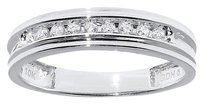 Jewelry Unlimited 10k,White,Gold,Mens,Round,Genuine,Channel,Diamond,5.5mm,Wedding,Band,Ring,18ct