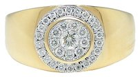 Jewelry Unlimited Mens,18k,Yellow,Gold,Round,Cut,11,Mm,Diamond,Wedding,Band,Engagement,Ring,.50,Ct