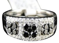 Jewelry Unlimited Ladies,Womens,White,Gold,Black,And,White,Diamond,Wedding,Fashion,Band,Ring,1,Ct