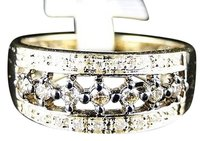 Jewelry Unlimited 10k,Yellow,Gold,Brown,Cognac,Champagne,Diamond,Ring,Band,14,Ct,