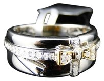Jewelry Unlimited White,Gold,Finish,Two,Tone,8.5,Mm,Wedding,Band,Ring,14,Ct