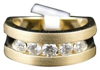 Jewelry Unlimited 1.03,Ct,Mens,White,Gold,Diamond,Brushed,Fashion,Comfort,Fit,Wedding,Band,Ring