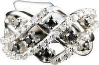 Jewelry Unlimited 10k,Ladies,White,Gold,Blackwhite,Diamond,Fashion,Wedding,Band,Ring,.62,Ct