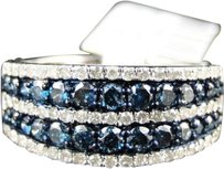 Jewelry Unlimited ,Ladies,10k,White,Gold,Bluewhite,Diamond,Fashion,Wedding,Band,Ring,1.10,Ct