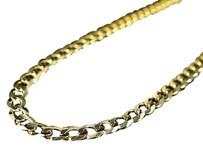 Jewelry Unlimited Real,10k,Yellow,Gold,Solid,Plain,Style,Cuban,Link,Chain,Necklace,18-30,3.5mm