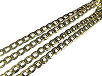 Jewelry Unlimited Mens,Hollow,10k,Yellow,Gold,5,Mm,Cuban,Curb,Link,Chain,Necklace,18-24,Inches