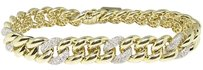 Jewelry Unlimited Mens,Ladies,Pave,10k,Yellow,Gold,Diamond,8.5,Inch,Miami,Cuban,Link,Bracelet,5,Ct