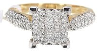 Jewelry Unlimited 14k,Yellow,Gold,Ladies,Princess,Diamond,Invisible,Engagement,Wedding,Ring,1.0,Ct