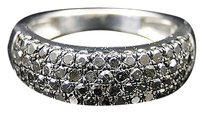 Jewelry Unlimited Ladies,White,Gold,Finish,Round,Cut,Black,Diamond,Engagement,Band,Ring,1.10,Ct
