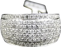 Jewelry Unlimited Mens,White,Gold,13,Mm,Round,Cut,White,Diamond,Pave,Ring,2.25,Ct
