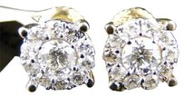 Jewelry Unlimited Mens,Or,Ladies,14k,Yellow,Gold,Solitaire,Look,Vs,Diamond,Stud,Earrings,1.3,Ct