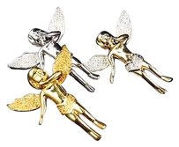 Jewelry Unlimited Genuine,Diamond,Angel,Pendant,Charm,In,Yellow,White,Or,Canary,Finish,.50ct,1.25