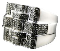 Jewelry Unlimited Mens,Xxl,Black,Diamond,Ring,1.25,Ct,In,White,Gold,Finish,Hip,Hop,Fashion,Ring