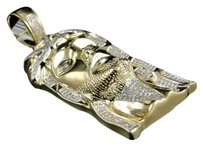 Jewelry Unlimited 10k,Yellow,Gold,Mens,2.5,Inch,Diamond,Jesus,Face,Piece,Pendant,Charm,1.4,Ct