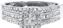 Jewelry Unlimited 10k,White,Gold,Ladies,Princess,Diamond,Engagement,Wedding,Ring,12ct